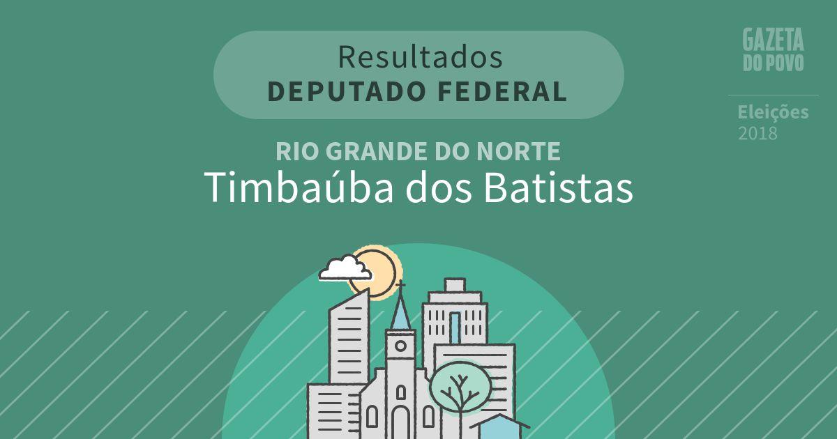 Resultados para Deputado Federal no Rio Grande do Norte em Timbaúba dos Batistas (RN)