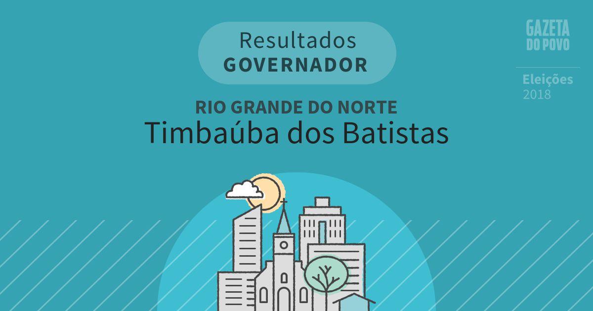Resultados para Governador no Rio Grande do Norte em Timbaúba dos Batistas (RN)