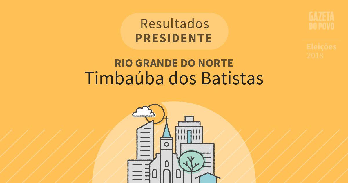 Resultados para Presidente no Rio Grande do Norte em Timbaúba dos Batistas (RN)