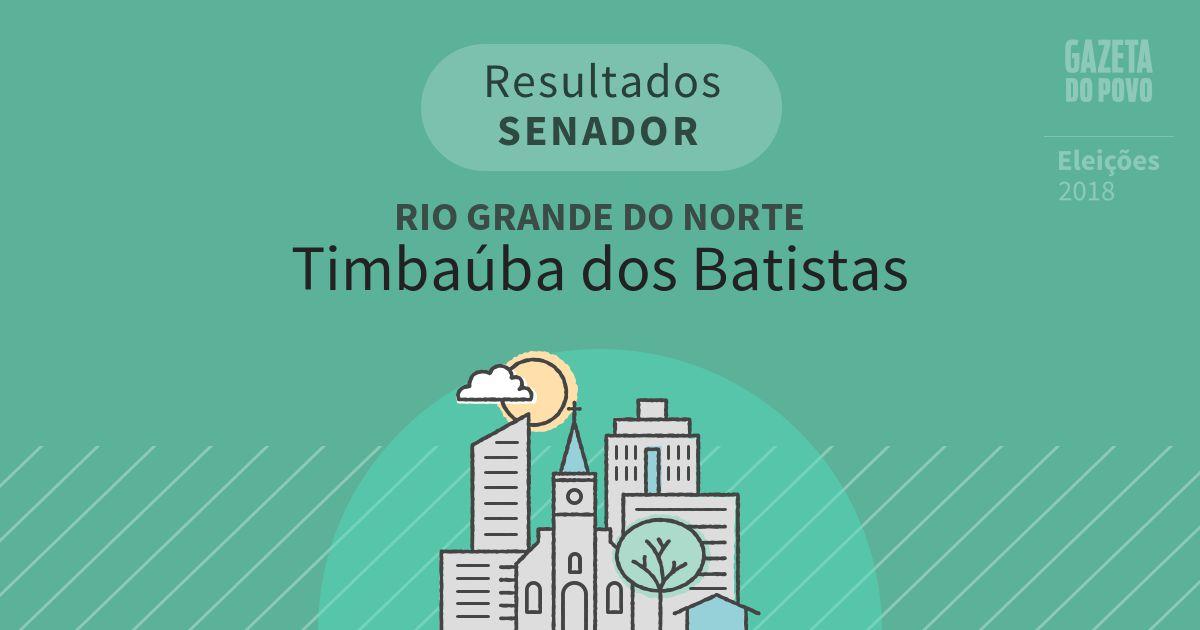 Resultados para Senador no Rio Grande do Norte em Timbaúba dos Batistas (RN)