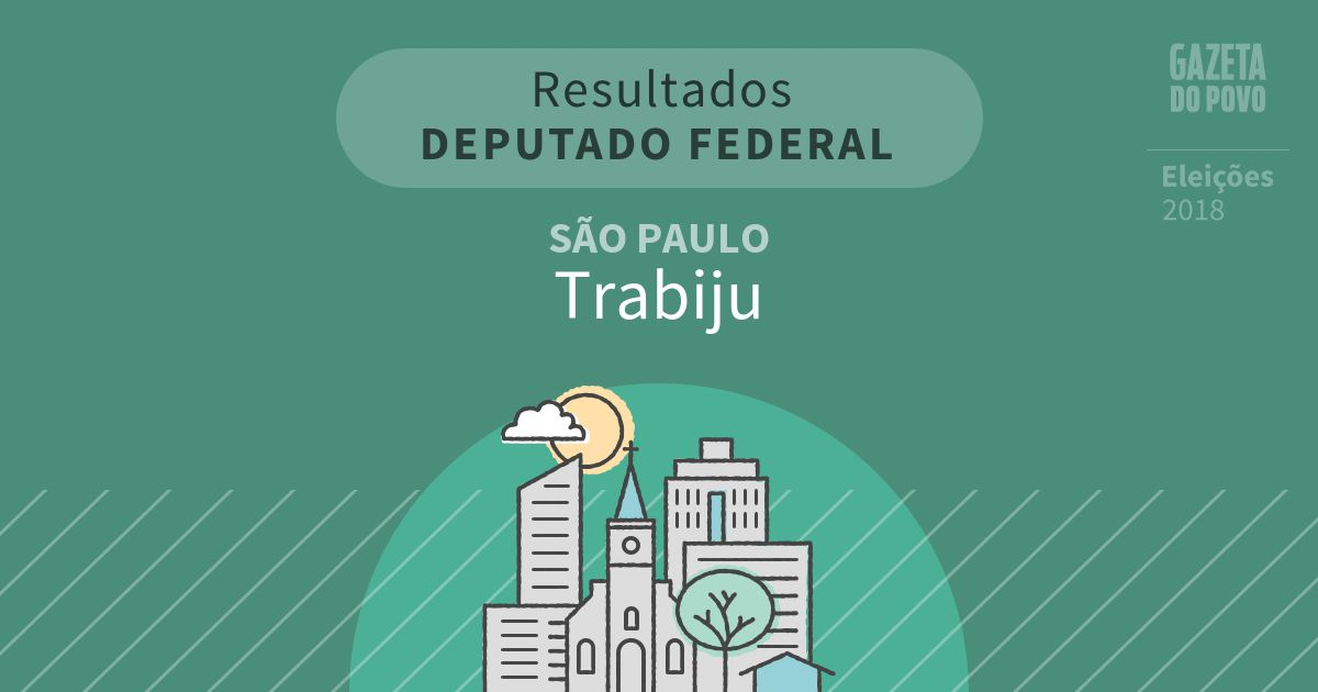 Resultados para Deputado Federal em São Paulo em Trabiju (SP)