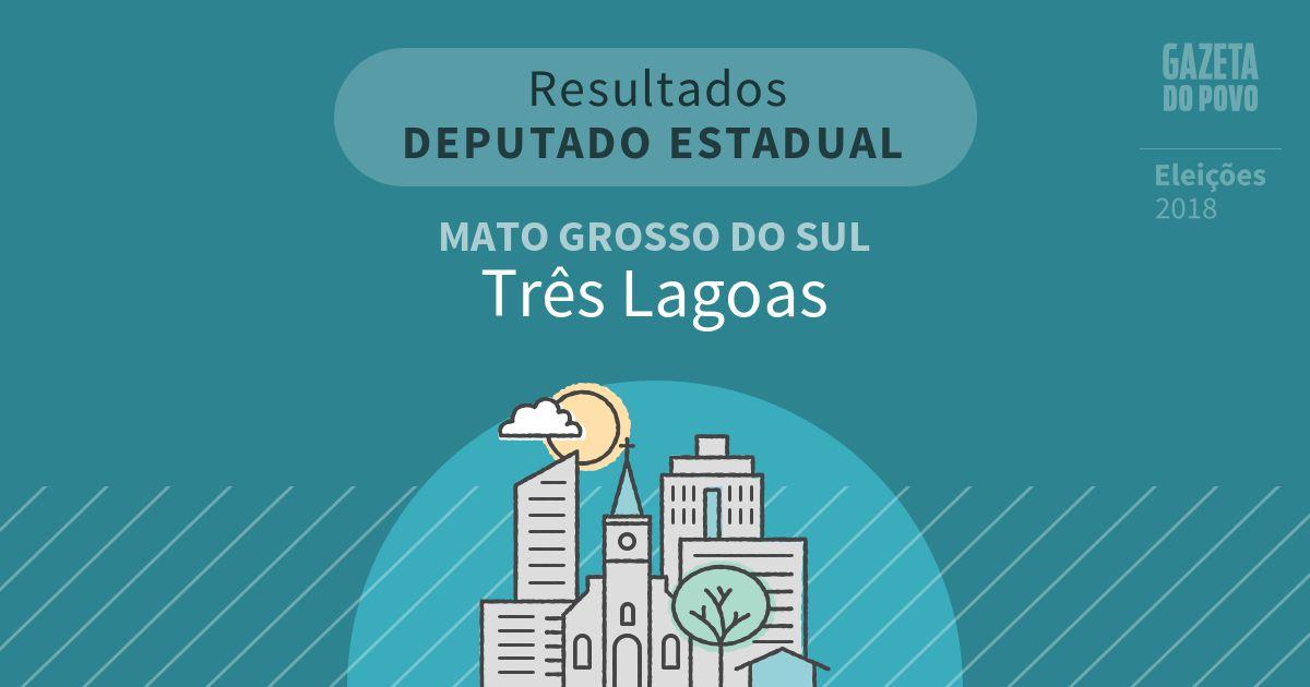Resultados para Deputado Estadual no Mato Grosso do Sul em Três Lagoas (MS)