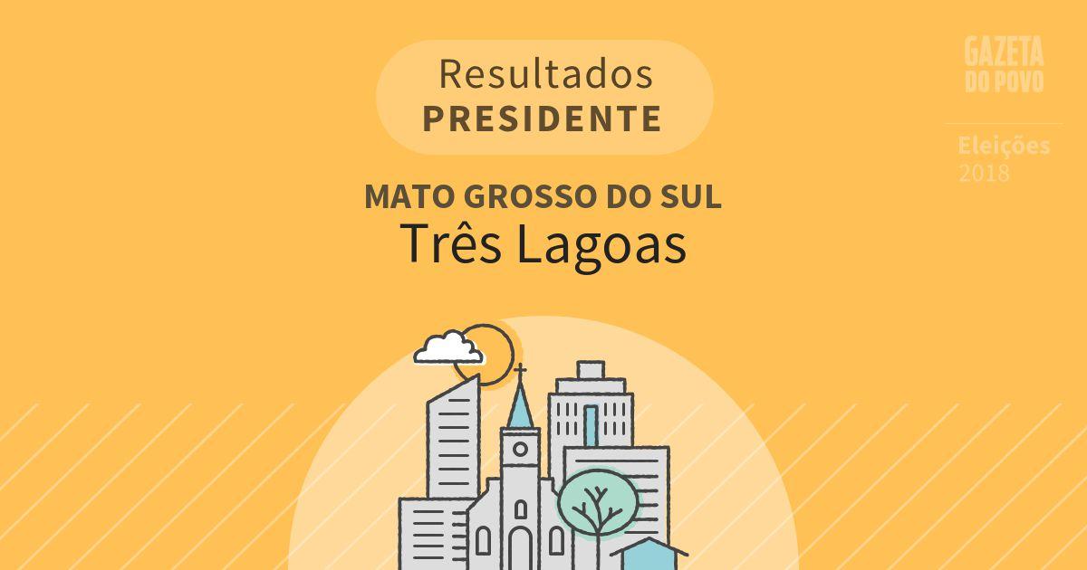 Resultados para Presidente no Mato Grosso do Sul em Três Lagoas (MS)