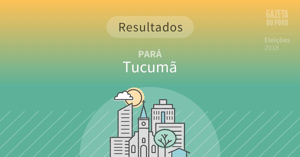 Resultados da votação em Tucumã (PA)