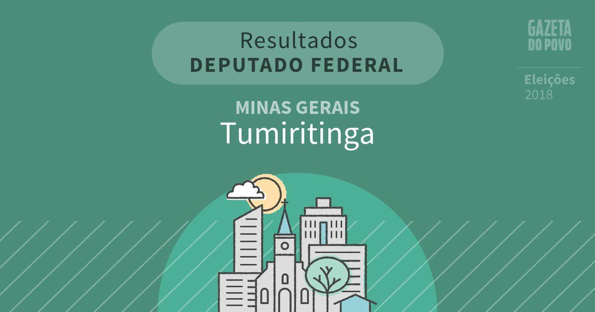 Resultados para Deputado Federal em Minas Gerais em Tumiritinga (MG)