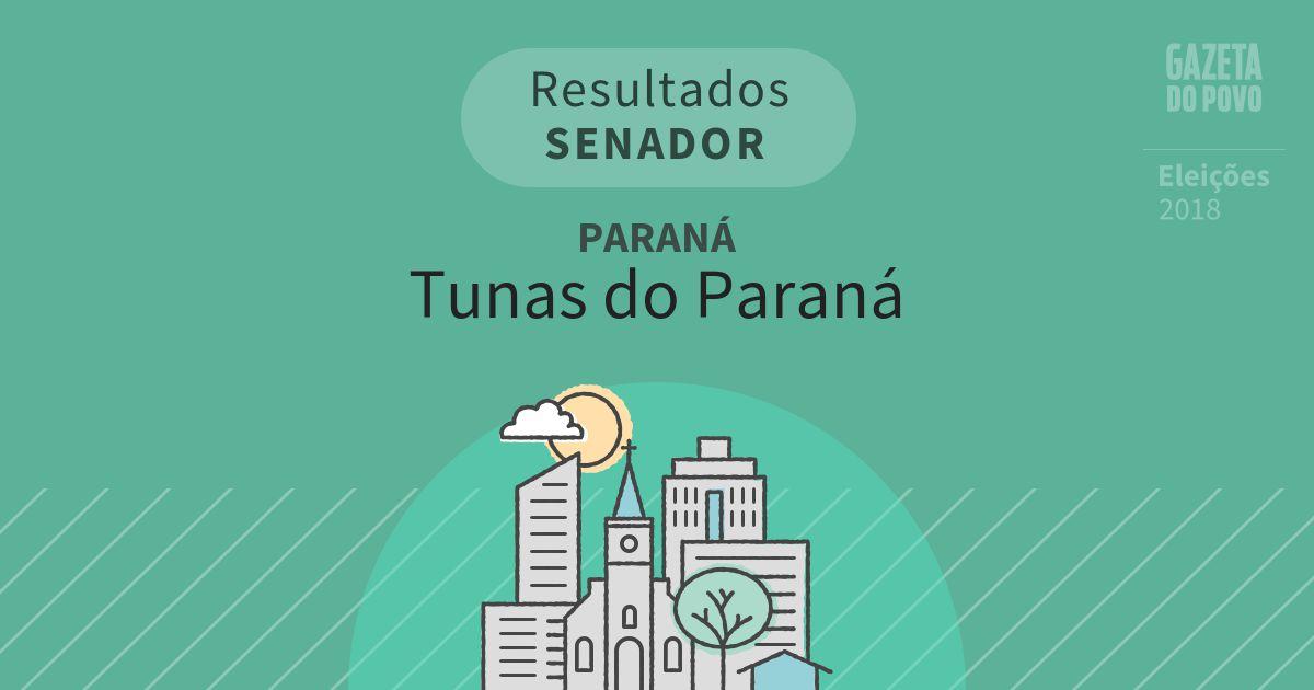 Resultados para Senador no Paraná em Tunas do Paraná (PR)
