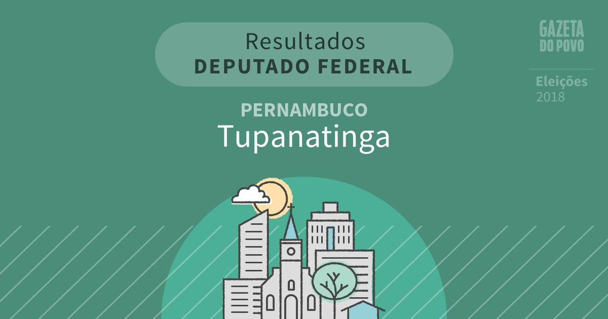 Resultados para Deputado Federal em Pernambuco em Tupanatinga (PE)