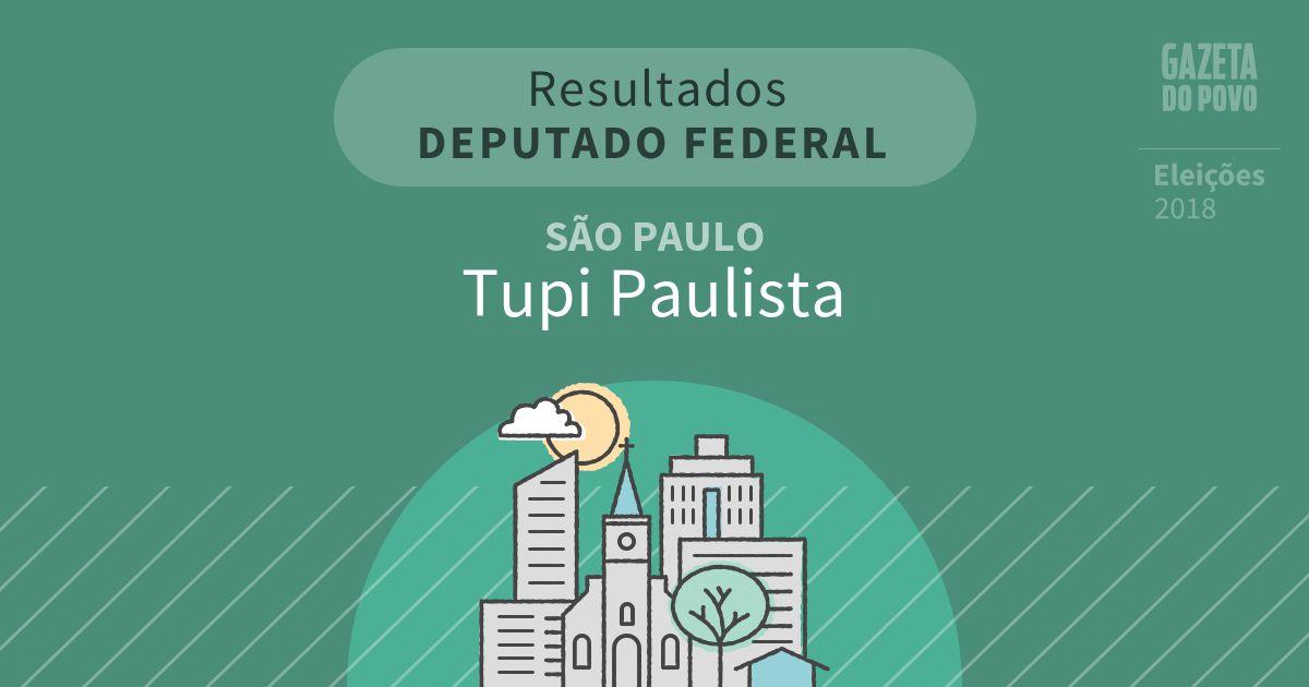 Resultados para Deputado Federal em São Paulo em Tupi Paulista (SP)