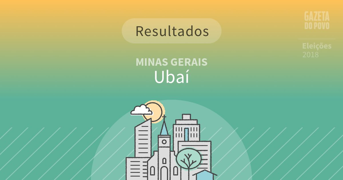 Resultados da votação em Ubaí (MG)