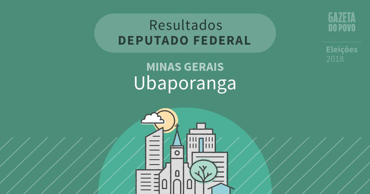Resultados para Deputado Federal em Minas Gerais em Ubaporanga (MG)