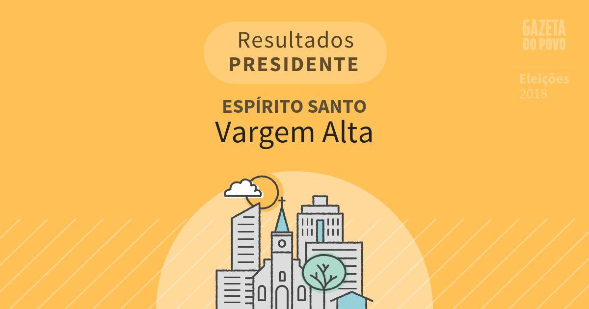 Resultados para Presidente no Espírito Santo em Vargem Alta (ES)