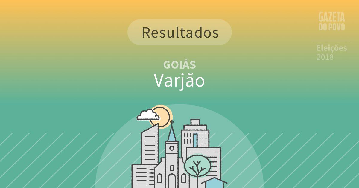 Resultados da votação em Varjão (GO)