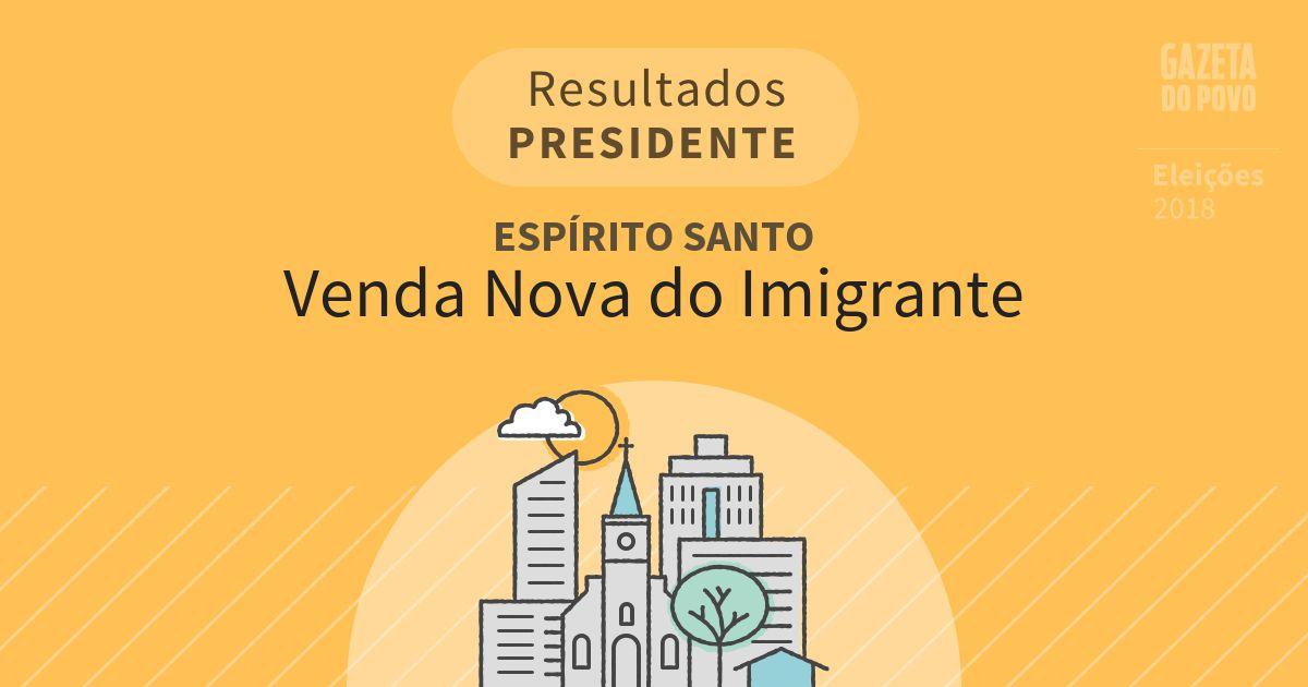 Resultados para Presidente no Espírito Santo em Venda Nova do Imigrante (ES)