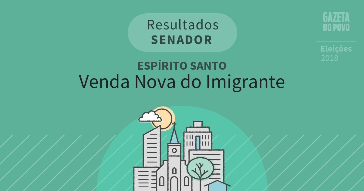 Resultados para Senador no Espírito Santo em Venda Nova do Imigrante (ES)