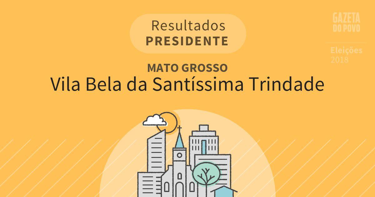 Resultados para Presidente no Mato Grosso em Vila Bela da Santíssima Trindade (MT)
