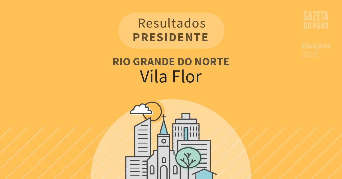 Resultados para Presidente no Rio Grande do Norte em Vila Flor (RN)