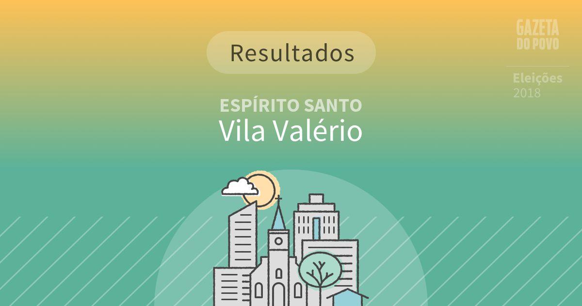 Resultados da votação em Vila Valério (ES)