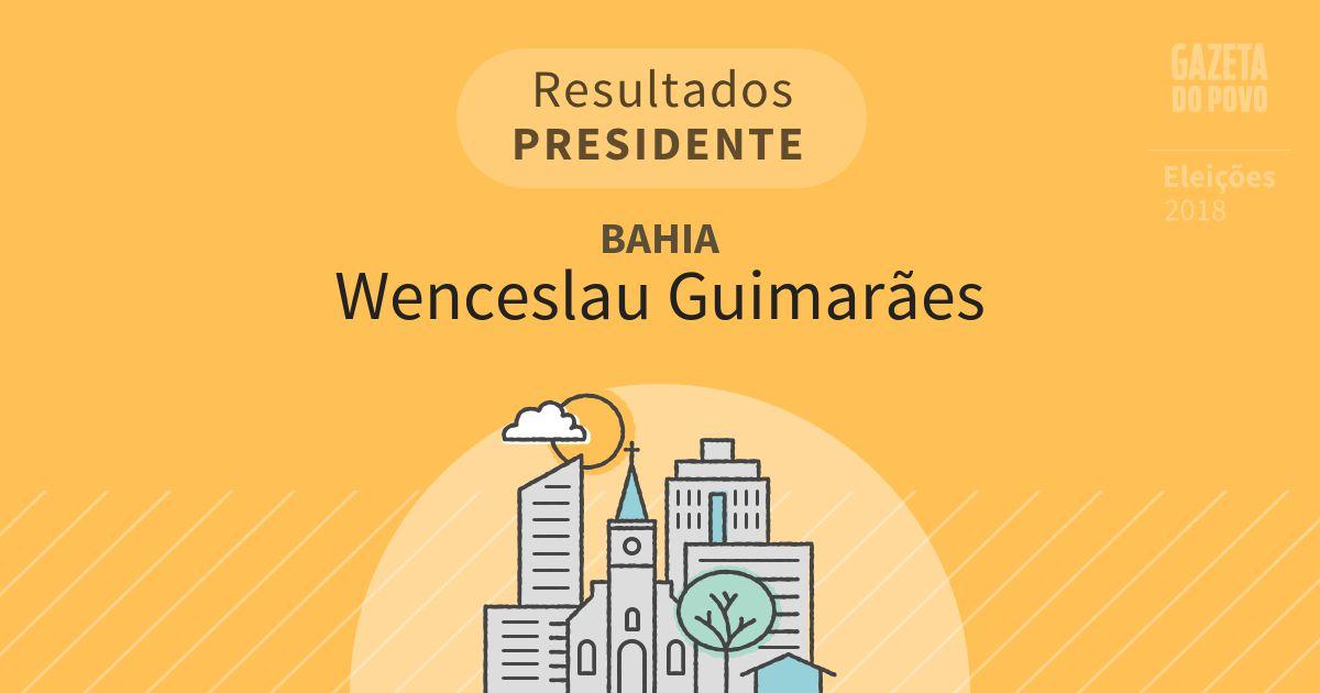 Resultados para Presidente na Bahia em Wenceslau Guimarães (BA)