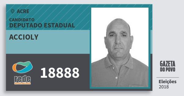 Santinho Accioly 18888 (REDE) Deputado Estadual | Acre | Eleições 2018