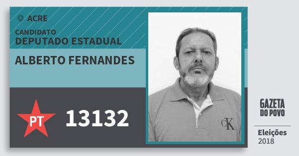 Santinho Alberto Fernandes 13132 (PT) Deputado Estadual | Acre | Eleições 2018