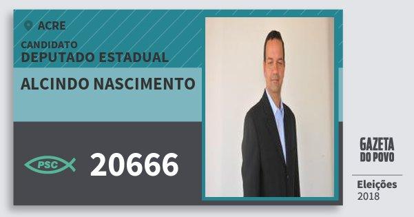 Santinho Alcindo Nascimento 20666 (PSC) Deputado Estadual | Acre | Eleições 2018