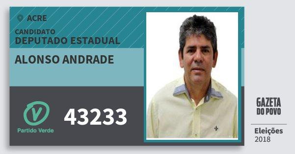 Santinho Alonso Andrade 43233 (PV) Deputado Estadual | Acre | Eleições 2018