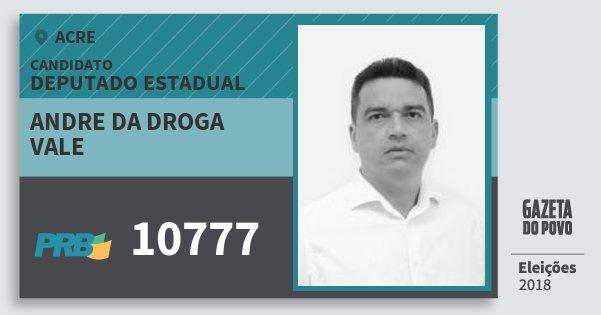Santinho Andre da Droga Vale 10777 (PRB) Deputado Estadual | Acre | Eleições 2018