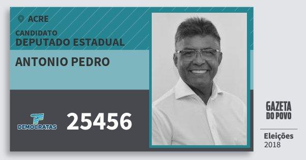 Santinho Antonio Pedro 25456 (DEM) Deputado Estadual | Acre | Eleições 2018