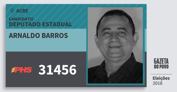 Santinho Arnaldo Barros 31456 (PHS) Deputado Estadual | Acre | Eleições 2018