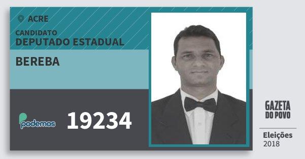 Santinho Bereba 19234 (PODE) Deputado Estadual | Acre | Eleições 2018