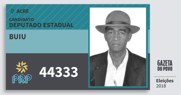 Santinho Buiu 44333 (PRP) Deputado Estadual | Acre | Eleições 2018