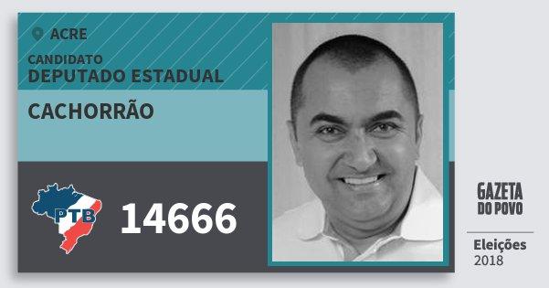 Santinho Cachorrão 14666 (PTB) Deputado Estadual | Acre | Eleições 2018