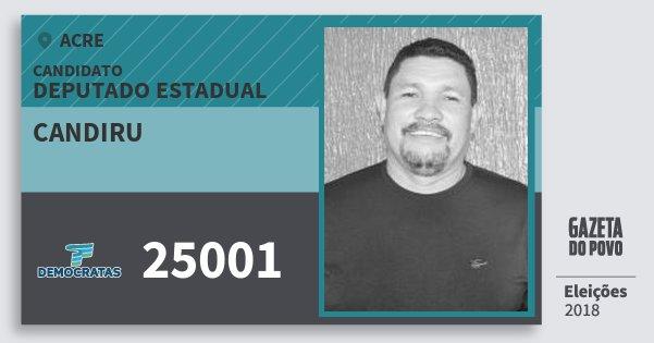 Santinho Candiru 25001 (DEM) Deputado Estadual | Acre | Eleições 2018