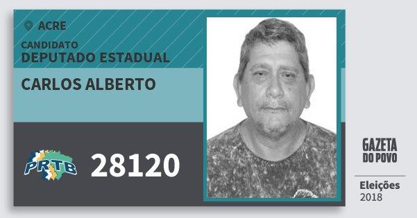 Santinho Carlos Alberto 28120 (PRTB) Deputado Estadual | Acre | Eleições 2018