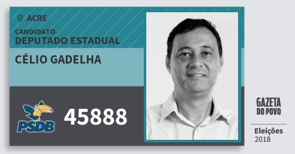 Santinho Célio Gadelha 45888 (PSDB) Deputado Estadual | Acre | Eleições 2018