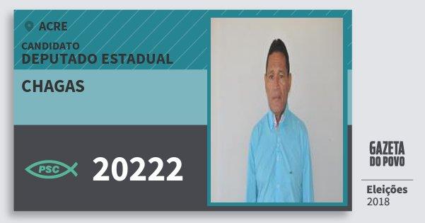 Santinho Chagas 20222 (PSC) Deputado Estadual | Acre | Eleições 2018