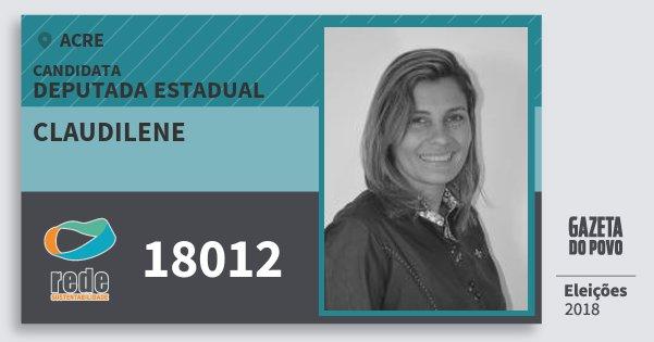 Santinho Claudilene 18012 (REDE) Deputada Estadual | Acre | Eleições 2018
