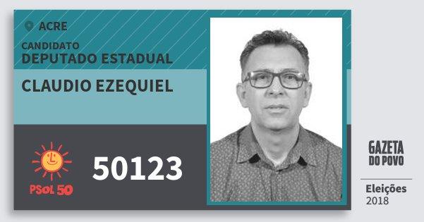 Santinho Claudio Ezequiel 50123 (PSOL) Deputado Estadual | Acre | Eleições 2018