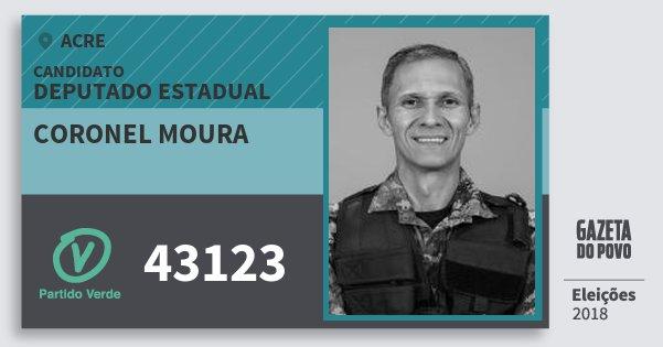 Santinho Coronel Moura 43123 (PV) Deputado Estadual | Acre | Eleições 2018