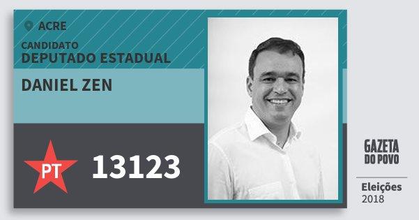 Santinho Daniel Zen 13123 (PT) Deputado Estadual | Acre | Eleições 2018