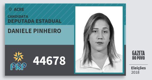 Santinho Daniele Pinheiro 44678 (PRP) Deputada Estadual | Acre | Eleições 2018