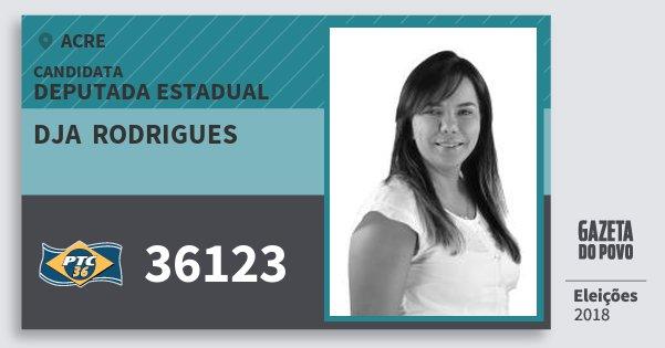 Santinho Dja  Rodrigues 36123 (PTC) Deputada Estadual | Acre | Eleições 2018