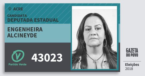Santinho Engenheira Alcineyde 43023 (PV) Deputada Estadual | Acre | Eleições 2018