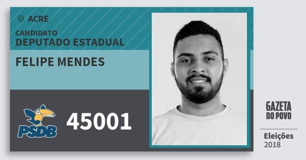 Santinho Felipe Mendes 45001 (PSDB) Deputado Estadual | Acre | Eleições 2018