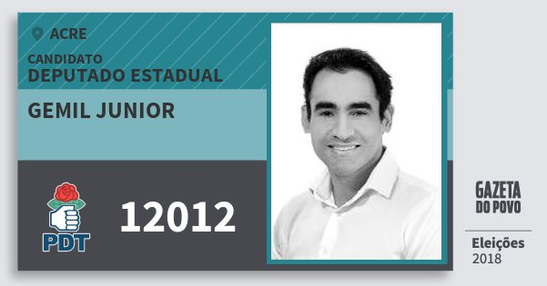 Santinho Gemil Junior 12012 (PDT) Deputado Estadual | Acre | Eleições 2018