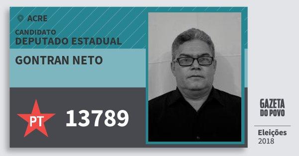 Santinho Gontran Neto 13789 (PT) Deputado Estadual | Acre | Eleições 2018
