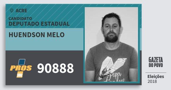 Santinho Huendson Melo 90888 (PROS) Deputado Estadual | Acre | Eleições 2018