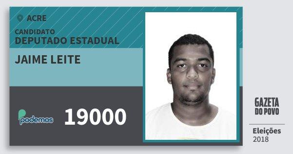 Santinho Jaime Leite 19000 (PODE) Deputado Estadual | Acre | Eleições 2018