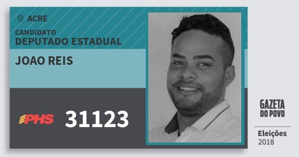 Santinho Joao Reis 31123 (PHS) Deputado Estadual | Acre | Eleições 2018