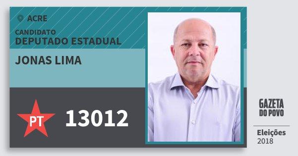 Santinho Jonas Lima 13012 (PT) Deputado Estadual | Acre | Eleições 2018